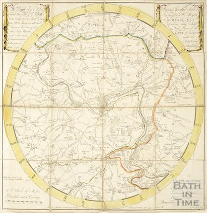 A Map of 5 Miles round the City of Bath 1799
