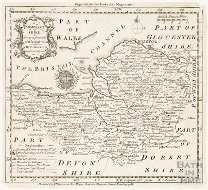 Somersetshire, Drawn from the best Authorities 1758