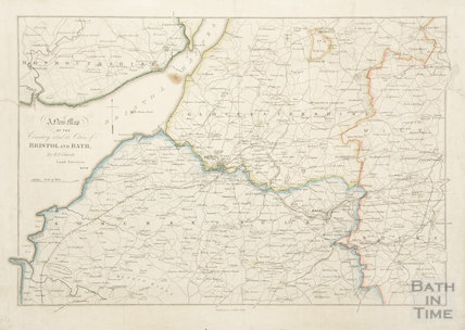 A New Map of the Country Round the Cities of Bristol and Bath c.1850