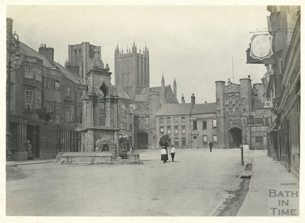 Market Place, Wells c.1890