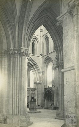 Inside Wells Cathedral, c.1920s
