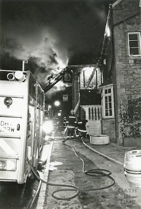 The Hare and Hounds on fire, 22 January 1992