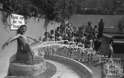 Fun at Cleveland Baths, 15 August 1973