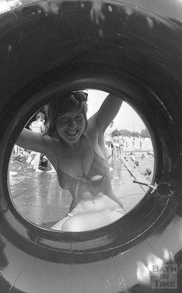 Fun at Cleveland Baths, 15 August 1973