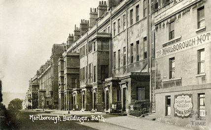 The Marlborough Tavern and Marlborough Buildings, Bath, c.1905