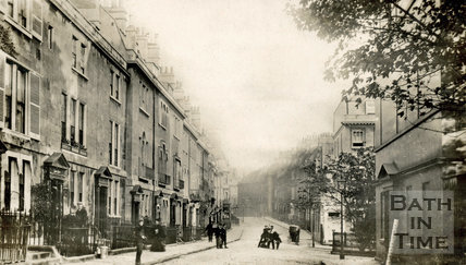 Rivers Street looking east, Bath, c.1905