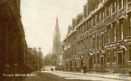 Rivers Street looking west, Bath, c.1910