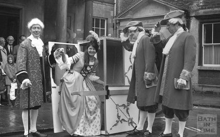 A ceremonial event at the Cross Bath, 13 June 1977