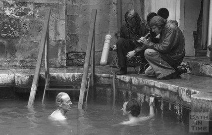 Filming in the Cross Bath, 13 June 1977