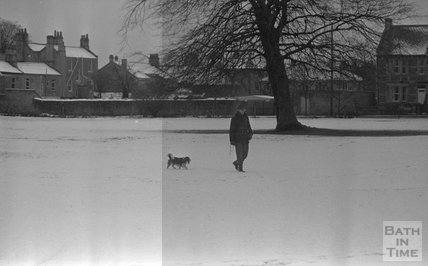 Snowy scenes in Combe Down, Bath, 31 January 1983