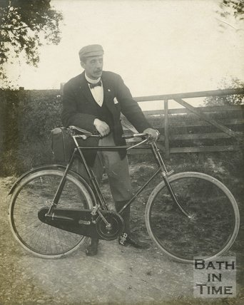 Keen cyclist and photographer George Love Dafnis, c.1894