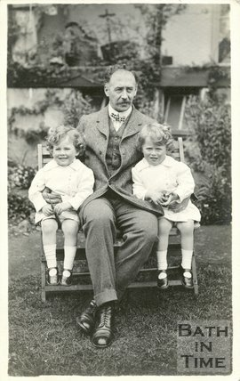 Self Portrait of George Love Dafnis and his twins, c.1915