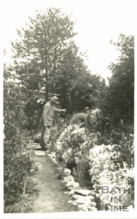 George Love Dafnis in his garden, c.1950s