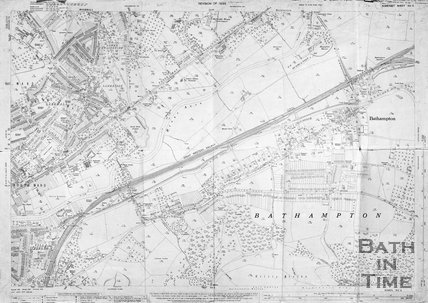 Larkhall and Bathampton 1:2500 OS map 1936