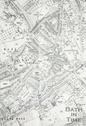 1936 - detail Lower Swainswick, Larkhall and Lambridge 1:2500 OS map