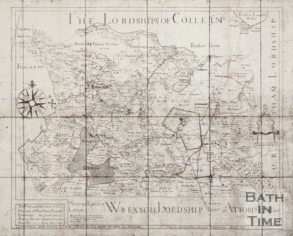 1907 copy of a map of the Lordship of Collern (Colerne) 1630