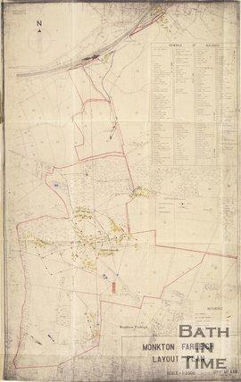 1941 Secret Layout Plan of the underground workings at Monkton Farleigh, Wiltshire, 3 December