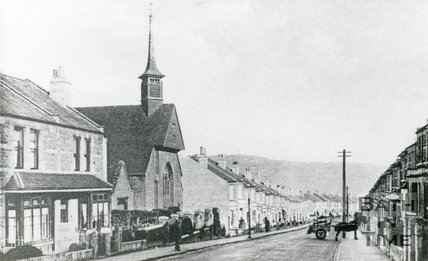 Coronation Avenue and Moravian Church, Oldfield Park, Bath, c.1900