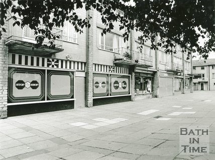 Bradford Road Shops, Combe Down, July 1991
