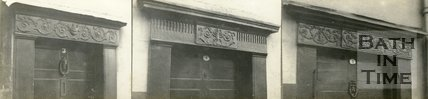 Details of the doorways of nos. 3-5 Prospect Place, Weston, Bath, c.1930s