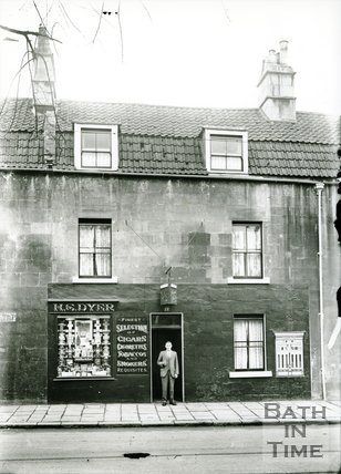 H.S. Dyer tobacconist shop, 13 St. George's Place, Upper Bristol Road, Bath, 1923-38