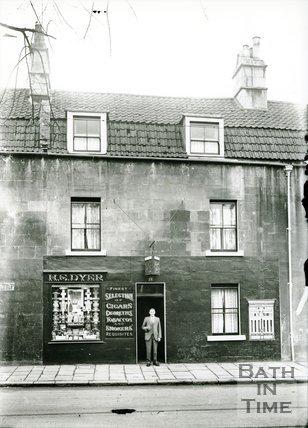 H.S. Dyer tobacconist shop, 13 St. George's Place, Upper Bristol Road, Bath, 1923-38