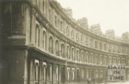 The Circus on the corner of Bennet Street, Bath, c.1930s