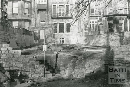 No. 4 The Circus, Bath. Restoration of the Georgian Garden, 5th February 1987
