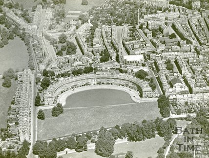 Aerial View of the Royal Crescent, c.1930s
