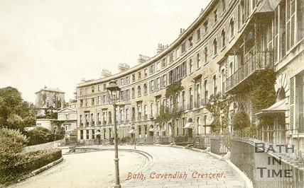 Postcard of Cavendish Crescent, Bath, c.1910