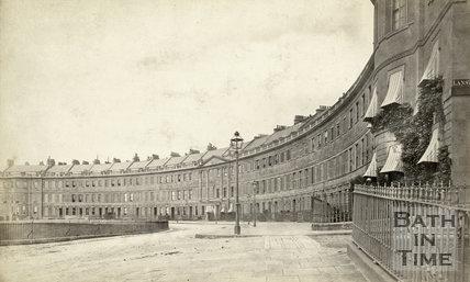 Lansdown Crescent, Bath, c.1876