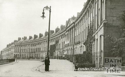 Camden Crescent, Bath, c.1915