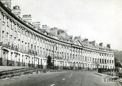 Camden Crescent, Bath, c.1950s?