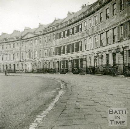 Lansdown Crescent, Bath, c.1960s?
