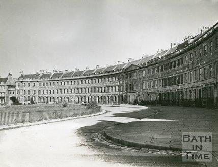 Lansdown Crescent, Bath, c.1950s
