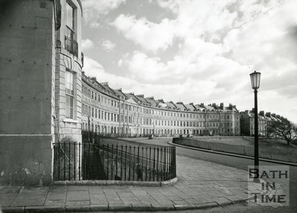 View of Lansdown Crescent, Bath, c.1950s