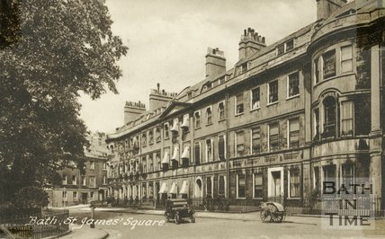 Postcard of St. James's Square, Bath, c.1920s