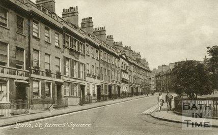 Postcard of St. James's Square, Bath, c.1920s