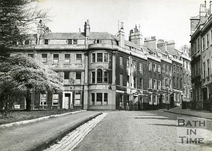 St. James's Square, Bath, north east corner towards Great Bedford Street, c.1950s
