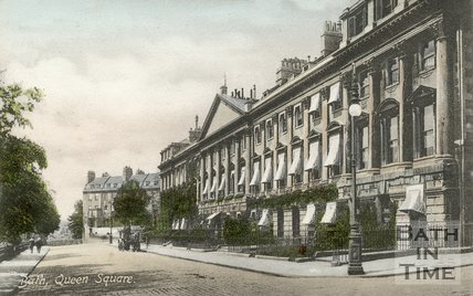 Postcard of Queen Square, Bath, c.1915