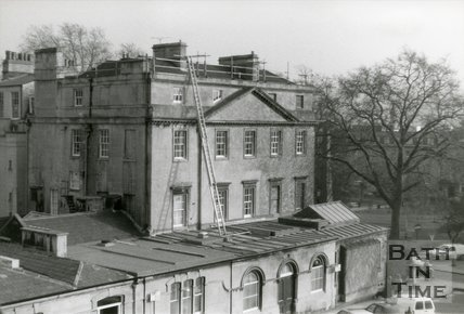 North Side of Queen Square Bath, seen From Queen's Parade, 1989