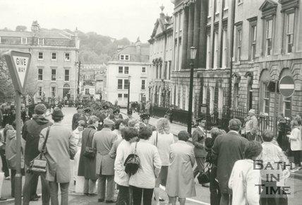 RAF parade around Queen Square, Bath, c.1996?