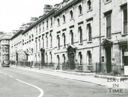 Queen Square, Bath, east side, c.1940s?