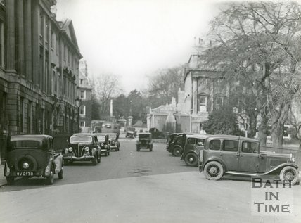 Queen Square, Bath, west side, c.1920s