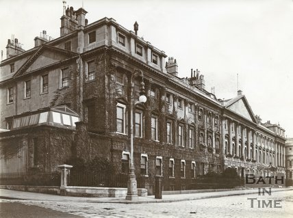 North side of Queen Square, Bath c.1903