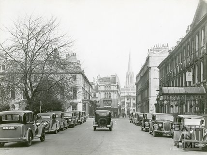 Queen Square, Bath, south side including the Francis Hotel, c.1930s?