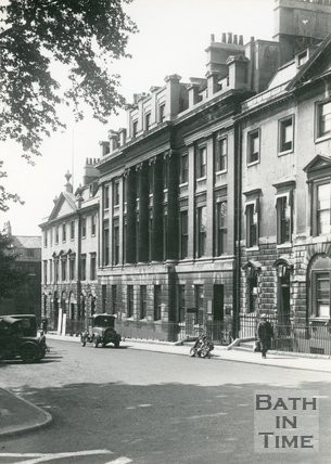 Queen Square, Bath, west side, c.1930s.
