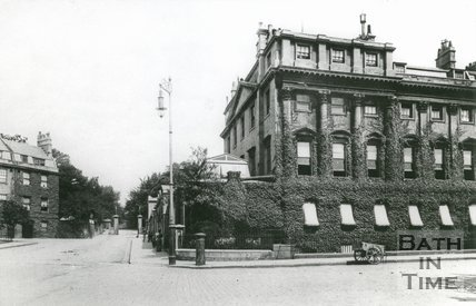 Queen Square, Bath, end of north side, c.1905