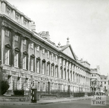 Queen Square, Bath, north side, c.1960s