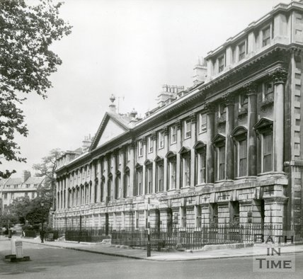 Queen Square, Bath, north side, c.1960s
